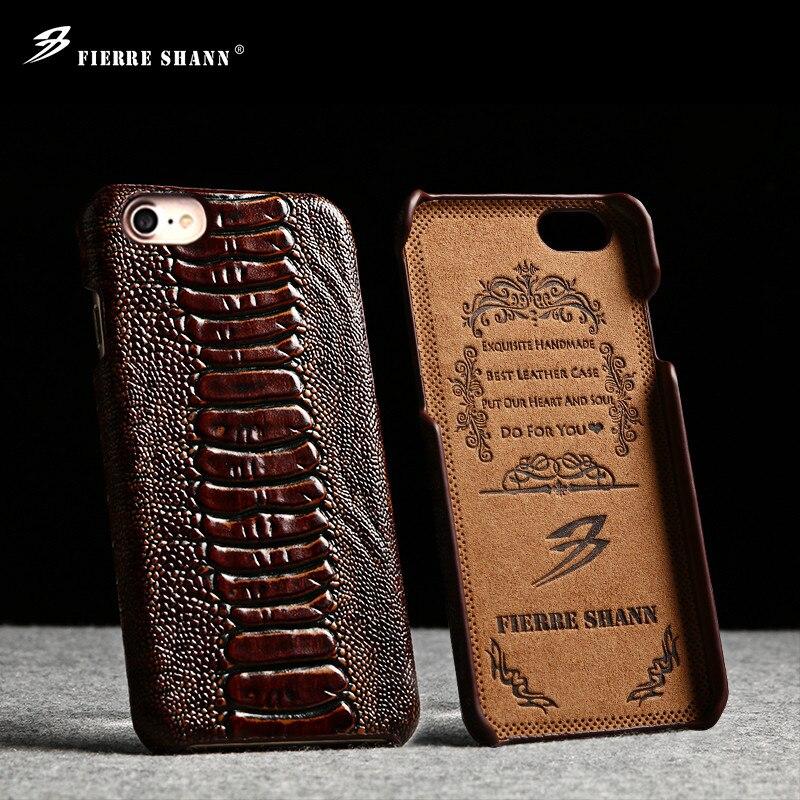 """Цена за Оригинальный роскошный задняя крышка защитная case genuine leather case for apple iphone 7 (4.7 """") 7 плюс (5.5"""") антидетонационных случаи обложка"""