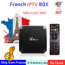цена на Best French IPTV Box X96 mini Android TV Box with 1400+ 1 Year IPTV Europe France Arabic francais Morocco M3U Smart IP TV Box tv