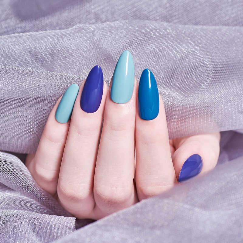 Mtssii ג 'ל לק כחול נייל פריימר למעלה מעיל היברידי ציפורניים אמנות אביזרים לכות Vernis UV ג' ל פולני כל עבור מניקור