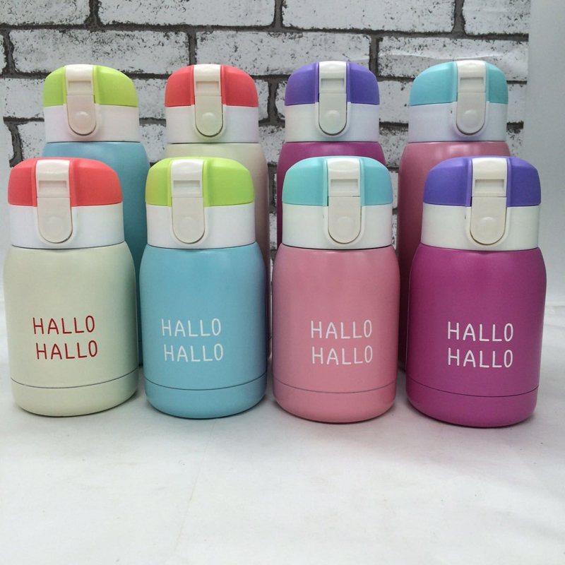 Water Bottle Quarter Prank: Hot Mini Water Bottle Thermos For Kids Garrafa Stainless