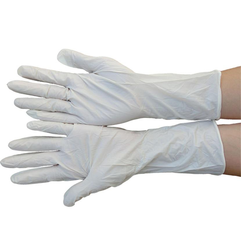 100 vnt ilgos vienkartinės nitrilo latekso medicininės pirštinės, - Sauga ir saugumas - Nuotrauka 3