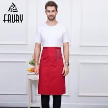 Для мужчин Для женщин лямки фартук шеф-повар Cozinha Ресторан Повседневная обувь дома Кухня форма повара кафе для официантов и официанток длинные фартуки