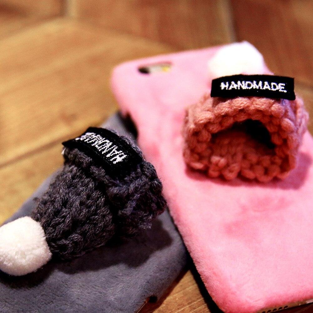Winter Warm Lovely Case para iPhone 7 8 Plus XS Max XR X 6 6s Plush - Accesorios y repuestos para celulares - foto 5