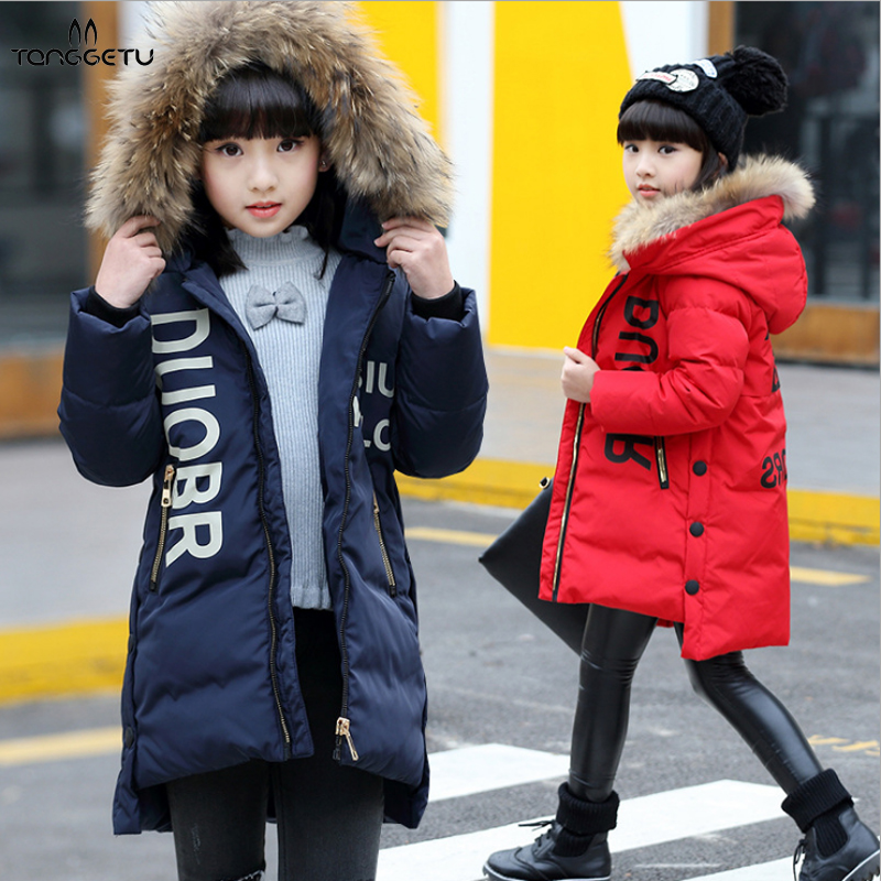 2018 New Fashion Girl winter down Jackets Children Coats warm baby Coat Kids Outerwears for cold hooded winter jacket fashion 2017 girl s down jackets winter russia baby coats thick duck warm jacket for girls boys children outerwears 30 degree