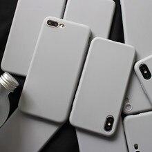 Gimfun gris mate sólido funda para Iphone x Xs Max Anti-knock Simple caja de dulces para funda Iphone 7 Iphone 6 6s 7 7 plus suave cubierta posterior