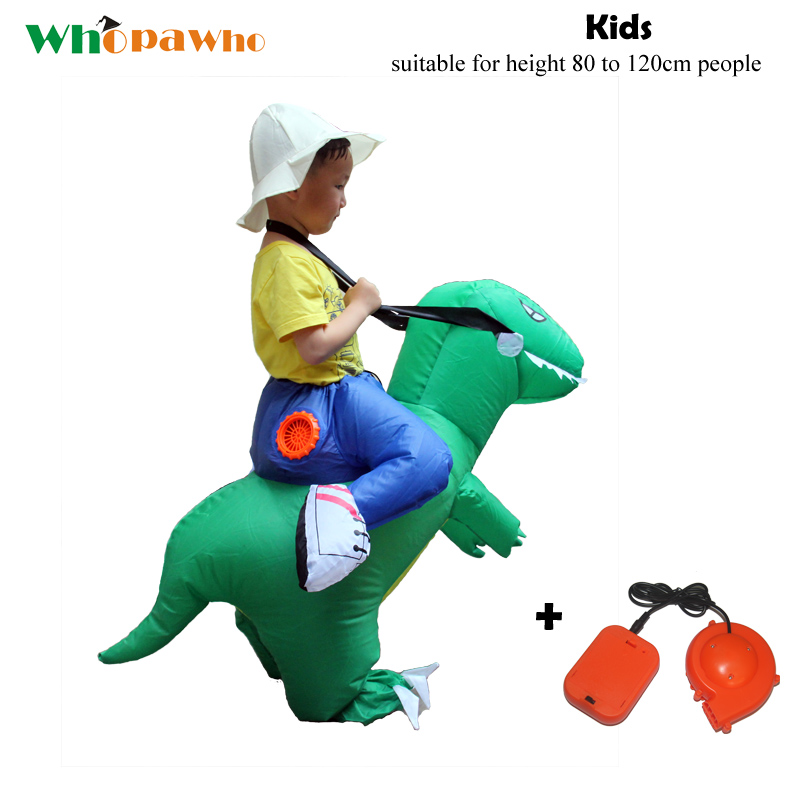 Halloween Inflatable Costume Clothing Mascot Cosplay Unisex Outdoor Child Toy Dinosaur Party Cosplay for 80 to 120 cm Kids|  - title=