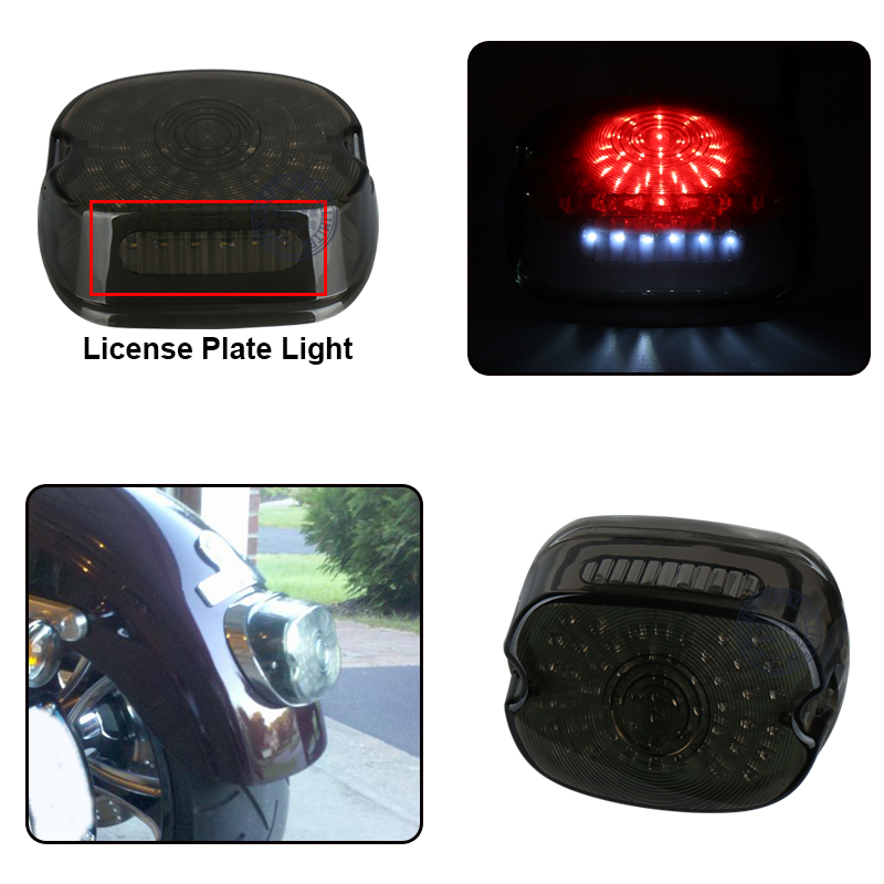 lowest price dyna lay down plug and play sportster tail light for rear motorcycle turn signals