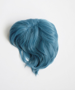 Image 4 - Sailor Moon Sailor Mercury Mizuno Ami Short Styled Cyan Blue Color Heat Resistant Synthetic Hair Cosplay Costume Wig + Wig Cap