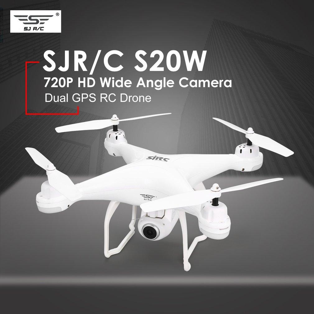 SJ R/C S20W FPV 720 P Caméra Selfie Maintien D'altitude Drone Headless Mode Retour Automatique Décollage/Atterrissage hover GPS RC Quadcopter Hélicoptère