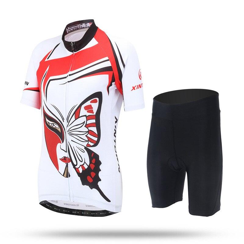 Butterfly Women Cycling Jersey Shorts Set 2017 Team Bike Short Sleeve Clothing