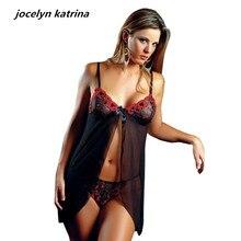 acbd96a69 Jocelyn katrina marca lingerie Sexy pijama de gaze transparente tentação  camisola lingerie