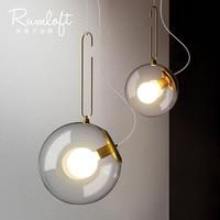 Nordic Pendant Lights Globe Chrome Lamp Glass Ball Pendant Lamp Lustre Suspension Kitchen Light Fixture E27 Home Lighting
