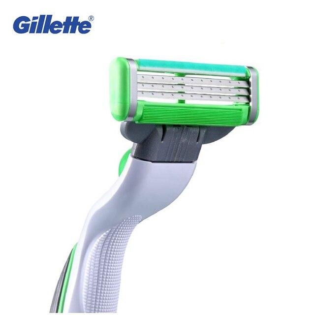 Original Gillette Mach 3 energía sensible eléctrica afeitar Maquinillas  cuchillas de afeitar para hombre afeitadora Maquinillas 43b58d134fb1