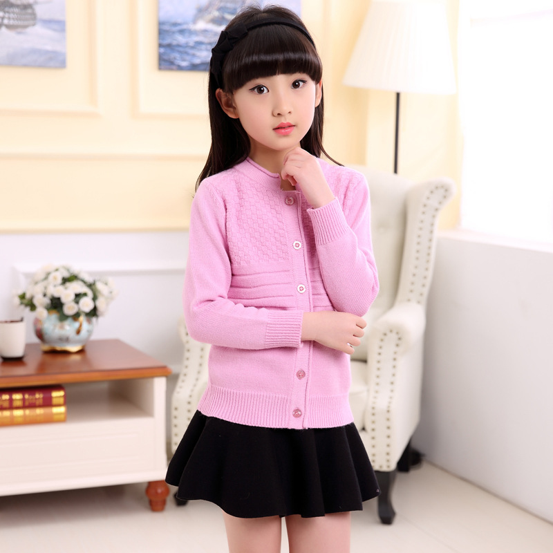 Children Clothing Casual Sweater For Girls Winter Cardigan Kids Clothes Coat Warm Baby Girl Sweater Long Sleeve Knitted 2018 new autumn winter baby girl sweater casual style girl cotton cardigan long sleeve o neck solid bow pattern children sweater