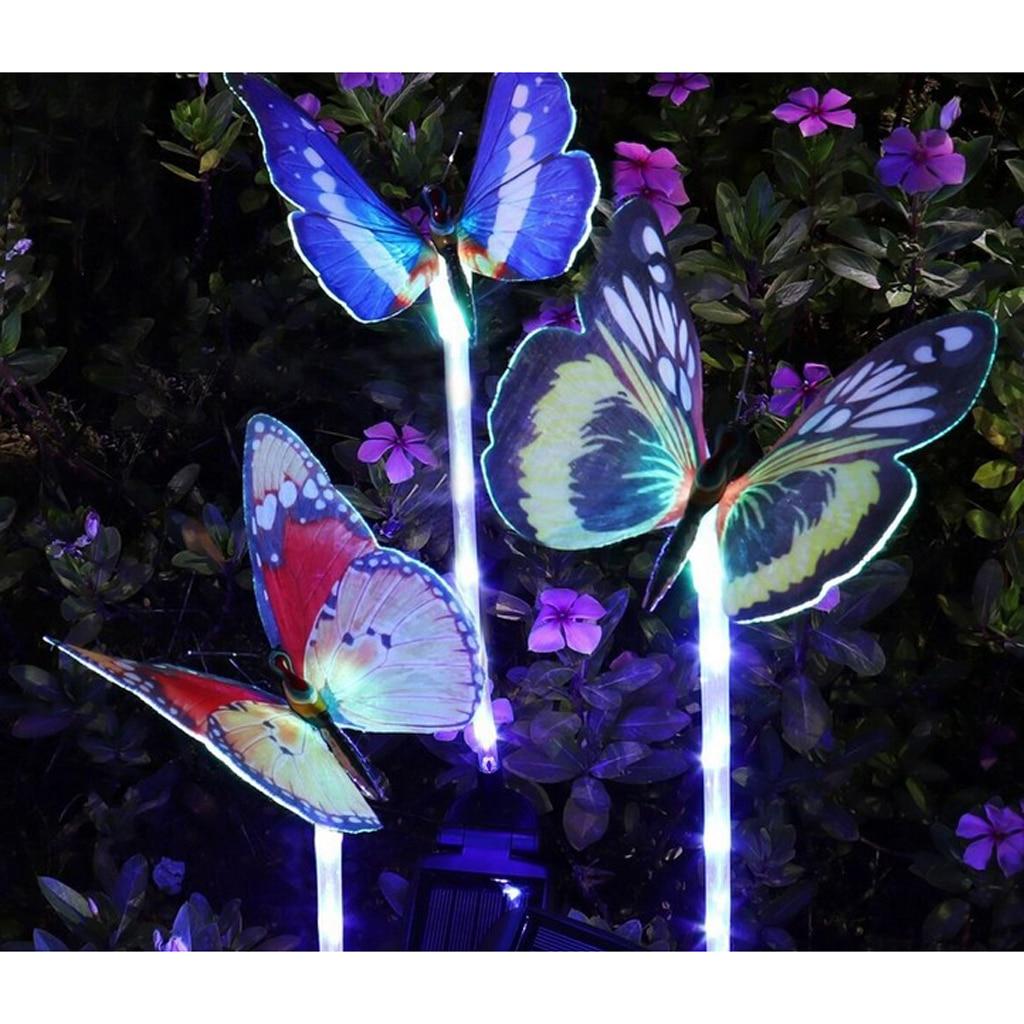 Solar Lawn Lamps Animal Pattern Changing Color Garden Landscape Light Decoration