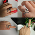 New Fashion Men's Adjust Black  Gothic Punk Octopus Open Rings  Jewelry