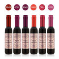 1 UNID NUEVA Llegada 6 Colores Mate Shinging Lipstick Botella de Vino Rojo del Lápiz Labial Mate Impermeable Colorido