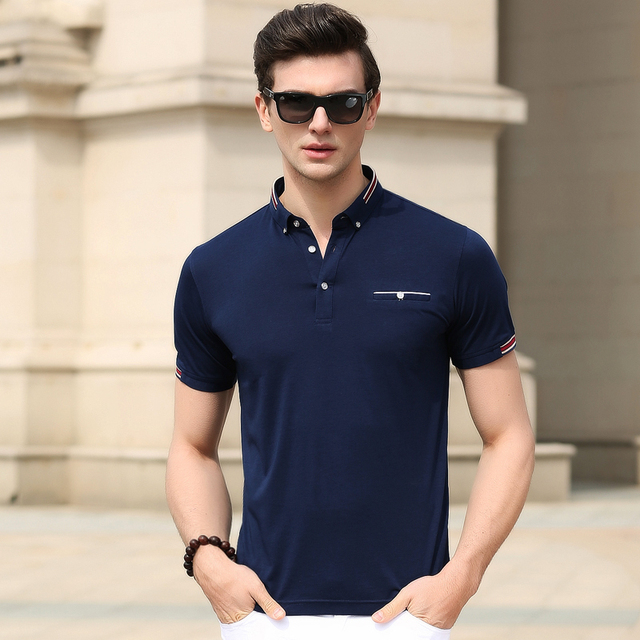High quality top new fashion men's solid color cotton polo shirt for summer