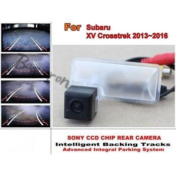 For Subaru XV Crosstrek 2013~2016 Smart Tracks Chip Camera / HD CCD Intelligent Dynamic Parking Car Rear View Camera фото