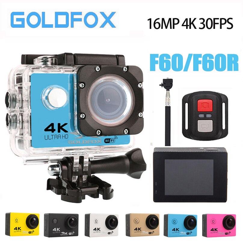 Goldfox Action Extérieure Caméra Vidéo Ultra HD 4 K 30fps 170D Wifi Caméscope Caméra 30 M Aller Étanche Pro Casque De Vélo mini caméra