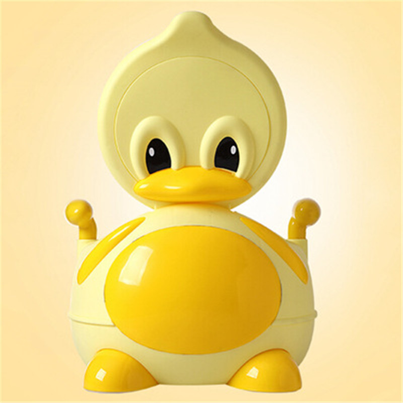 Baby Potty Toilet Chair Training Seat Infant Anti-slip Folding Toilet Trainer Safety Seats 3 Colors Kawaii Duck Toy Potty Bottle