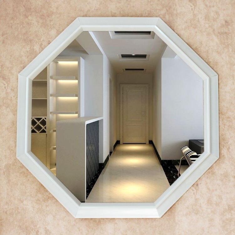 Hexagonal shaped mirror bathroom cabinet mirror decorative for Decorative bathroom wall mirrors