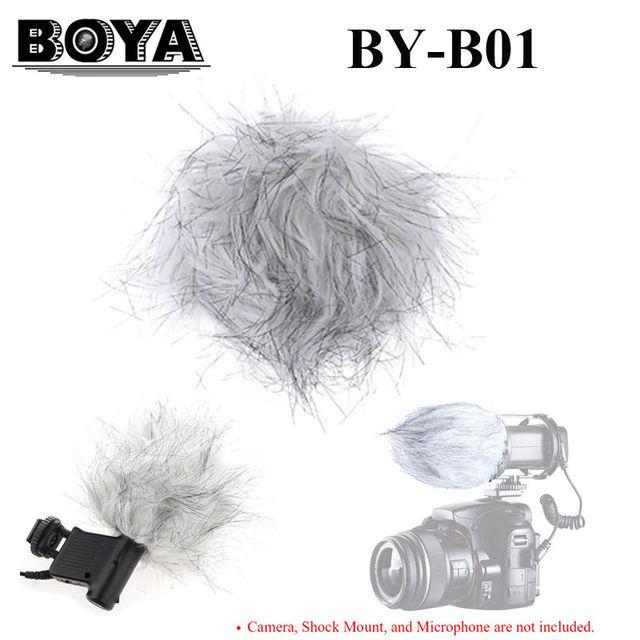 Free shipping!BOYA BY-B01 Microphone Windshield Fur Wind Muff Windscreen for VM01 V03 VM300PS Microphone Camera
