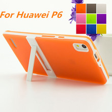 Ultra-thin PC Frame Huawei P6 Soft Case Cover TPU Silicon Case For Huawei Ascend P6 P6s Matte Feel Capa Fundas Free One Film