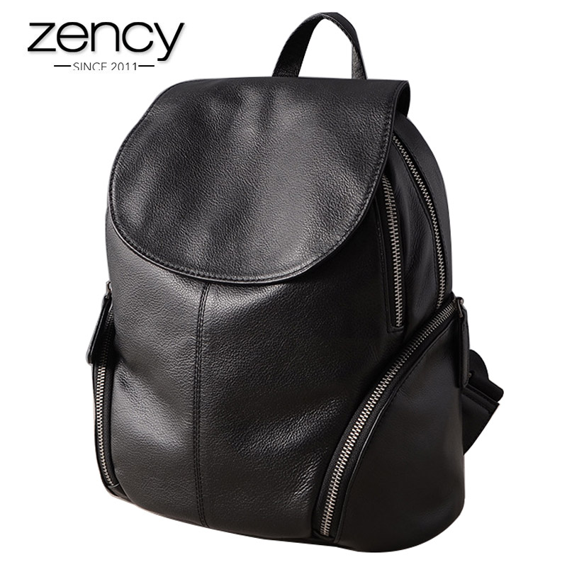 100% Genuine Leather backpack Women Fashion Purses Multi Pockets Female High Capacity Bags Cover Casual Shoulder Bag for Ladies navo fashion drawstring backpack shoe bag multi room 100