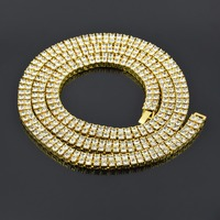 MCSAYS Hip Hop Jewelery Set 2 Rows Combo Tennis Necklace Chain và Bracelet CZ Đen/Vàng/Sliver Màu Bling Necklace Bangle 4GM