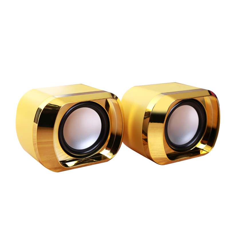 Cheap Sale Usb 2.0 Notebook Speakers Wired Stereo Mini Computer Speaker For Desktop Laptop Notebook Pc Mp3 Mp4 3.5mm Aux In Gold