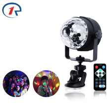 ZjRight IR Remote RGB LED Crystal Magic Rotating Ball Stage Lights USB 5V Colorful ktv DJ party disco light sound control Light