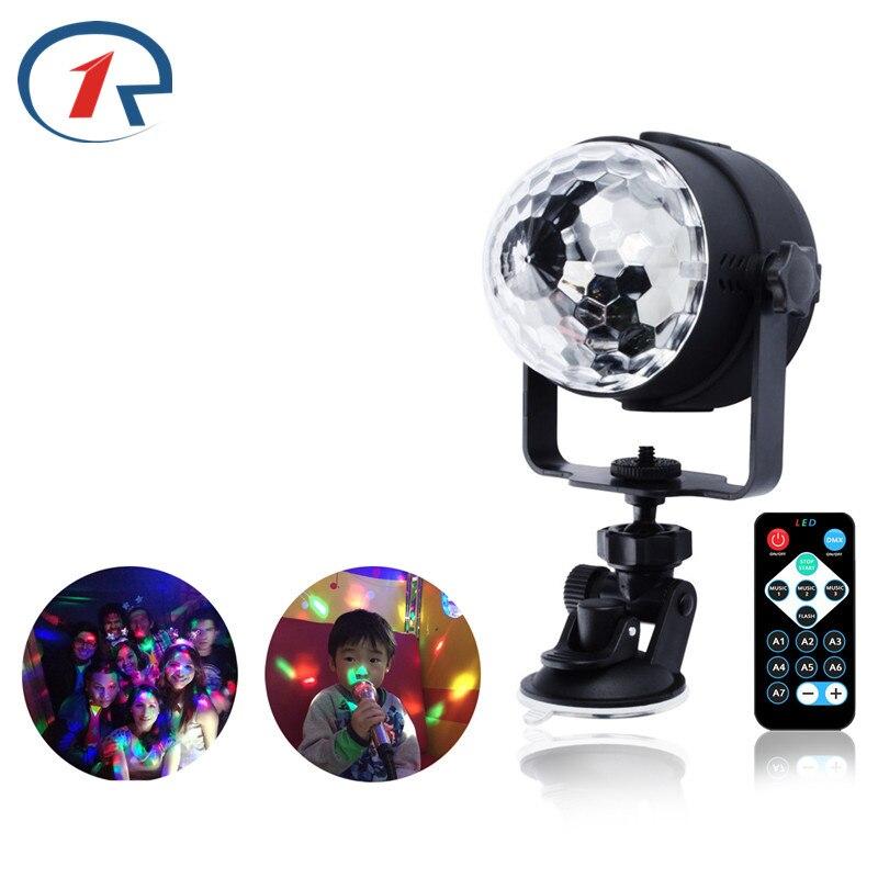 Zjright ИК-пульт <font><b>RGB</b></font> <font><b>LED</b></font> Кристалл магия вращающийся шар сцены USB 5 В красочный КТВ DJ партии диско свет звук управление светом