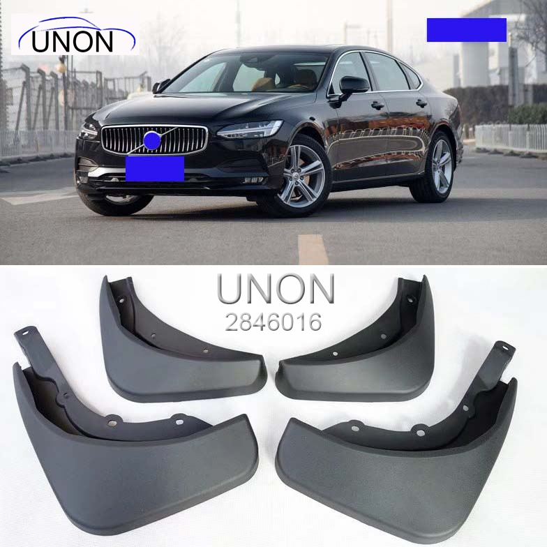 Car Styling Accessories Fit For Volvo S90 2017 Mud Flaps Splash Guards Mud Guards Splash Guard Mudguards 4pcs/set special mud flaps splash guards cover car mudguards fenders splasher mudflap for bmw x1 2016 2017