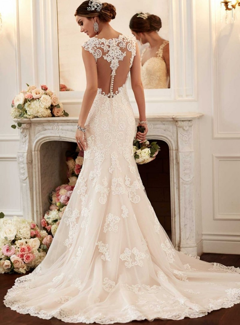 v neck cap sleeve trumpet lace wedding dress mermaid lace wedding dress mermaid lace wedding dress