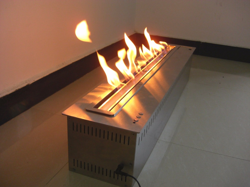 On Sale 31 Inch Fireplace Bio Ethanol Decorative For Home 8L Black/ Silver
