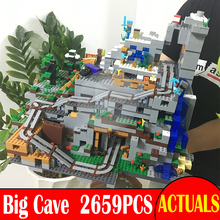 The Mountain Cave 2659PCS My world Minecraft Mini Game Figures Building Block Bricks Model DIY Toys Similar With legoingly 21137