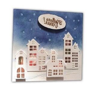 Штампы для скрапбукинга в рождественском доме, штампы из металла, тиснение, новинка 2018, оформление открыток