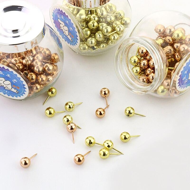 Chuangzhong Earth Pin Eco-friendly Material Cork Pushpin Gold Rose Gold 100PCS ...