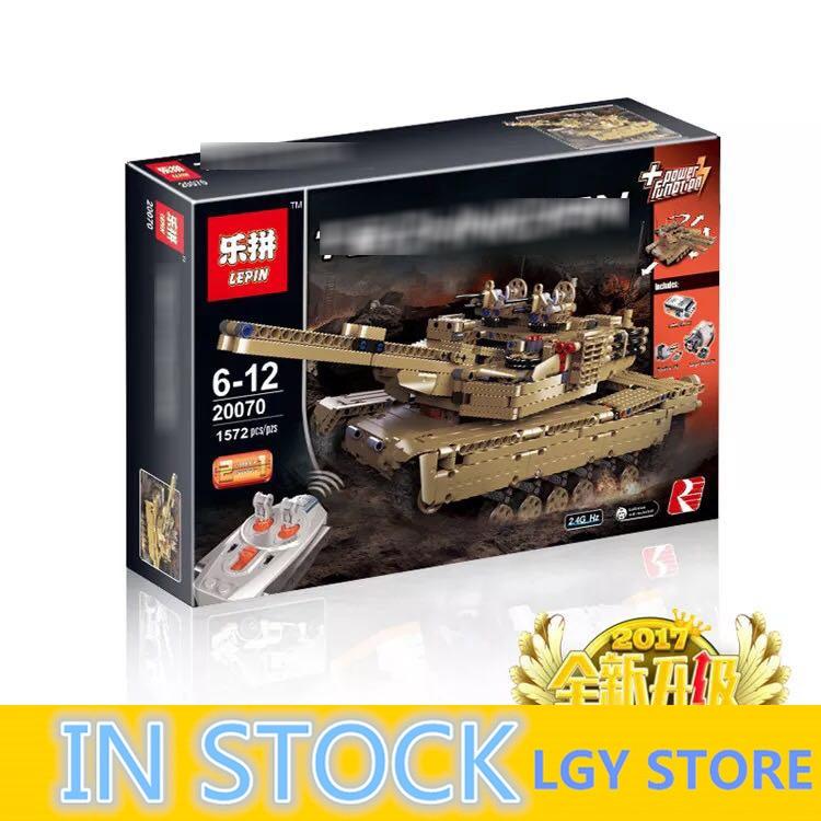 LEPIN technique Série Militaire RC Réservoir 20070 set Blocs de Construction Briques Militaire Modèle Drôle D'anniversaire Garçon Jouets De Noël Cadeaux