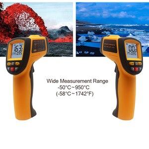 Image 2 - GS320 GM320 GM900 ללא מגע לייזר IR אינפרא אדום הדיגיטלי C/F בחירת משטח טמפרטורת מדחום Pyrometer