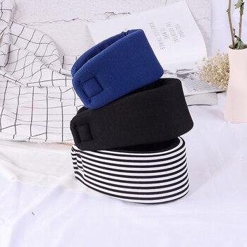 Регулируемый мягкий шейный воротник-распорка унисекс из пены для облегчения боли в плечах инструмент для ухода за здоровьем в черно-синюю п...