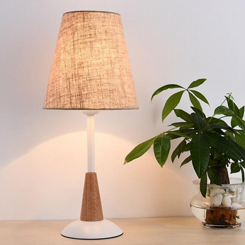 Wooden Table Lamp With Fabric Lampshade Wood Bedside Desk lights Modern Book Lamps E27 110V 220V Reading Lighting Fixture ems free ship table lamps e27 contemporary wooden table lamps artistic beige with linen fabric shade table lighting lbmt zm
