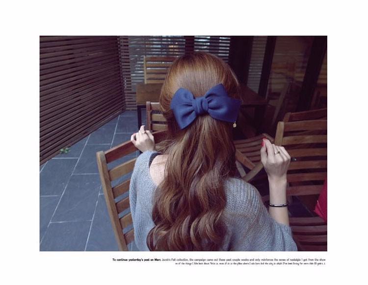 HTB1yE31OFXXXXayXFXXq6xXFXXXd Pretty Solid Cloth Big Bow Hair Clip For Women - 7 Colors