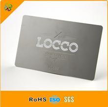 stainless steel customized logo die cutting matt black business metal card