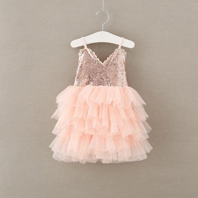 12091a1226 2017 baby girl glitter tutu dress sleeveless sequine puffy dresses baby  girl flower dresses lace back Wholesale