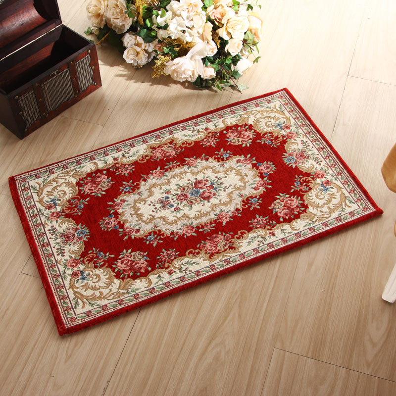 Luxury European Beige/blue/red/pink Carpets Classical Non-slip Self-adhesive Carpet Floral/Plant Stair Treads bedroom parlor ...