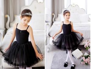Image 2 - Новое балетное платье пачка для девочек, одежда для трико и танцев, Детские праздничные платья принцесс, детские танцевальные костюмы