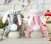 Rabbit Style Dog Bathrobe Jumpsuits Dog Pajamas Clothing For Dogs Pet Puppy Cat Small Dog Clothes