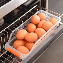 Random Color Plastic Egg Storage Box Refrigerator Convenient Boxes Tray Food Container Kitchen Gadgets Holder